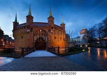 Barbican in Krakow.