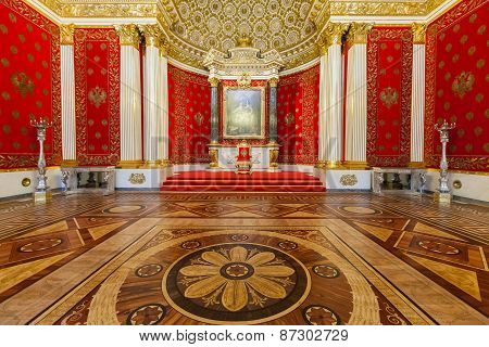 Small Throne Hall Of The Winter Palace, St.petersburg