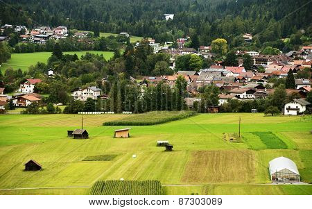 Agricultural fields in Austria, Europe