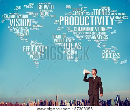 Productivity Vision Idea Efficiency Growth Success Solution Concept