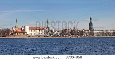 Panorama Of  Riga. Latvia