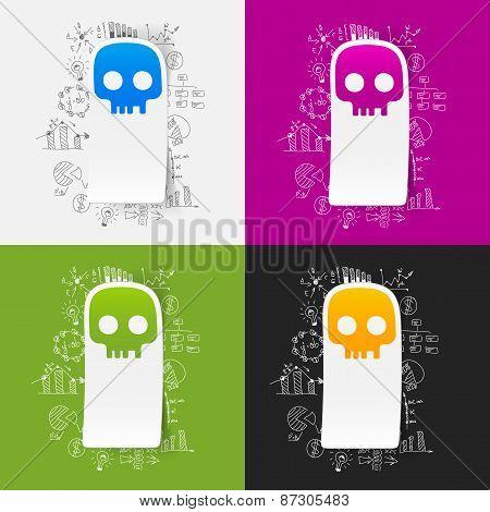 Drawing business formulas. skull