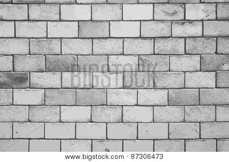 dirty brick wall, grungy grey texture, vector