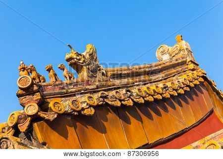 The Roof Statue In Forbidden City