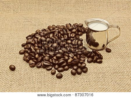 Retro Photo Of Coffee Beans