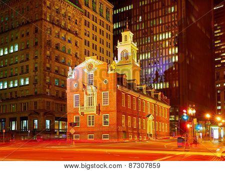 Boston Old State House in Massachusetts USA