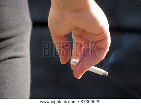 Person With Cigarette