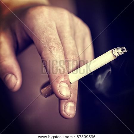 Ugly Hand With Cigarette