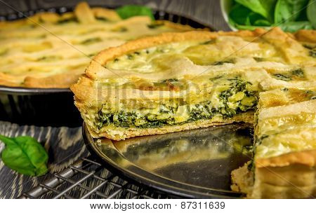 Homemade Spinach Quiche