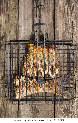 Grilled Fish In Barbecue