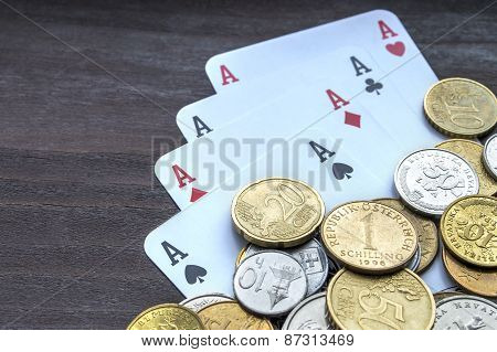 Coins and aces