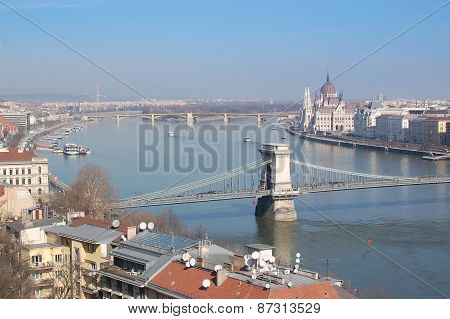budapest danube river bridge