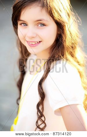 Fascinating Little Girl Smiling