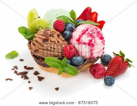 Different Varieties Ice Cream