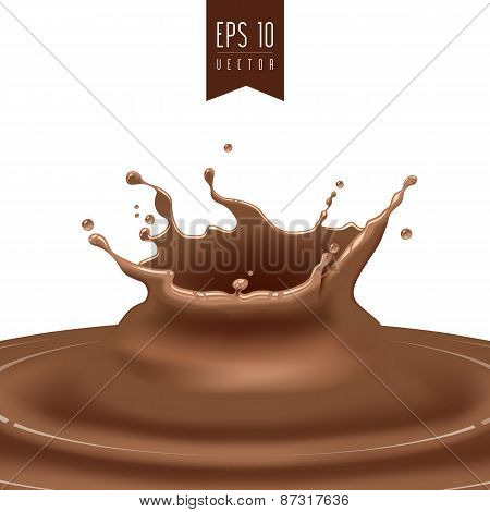 Splash of coffee or chocolate vector