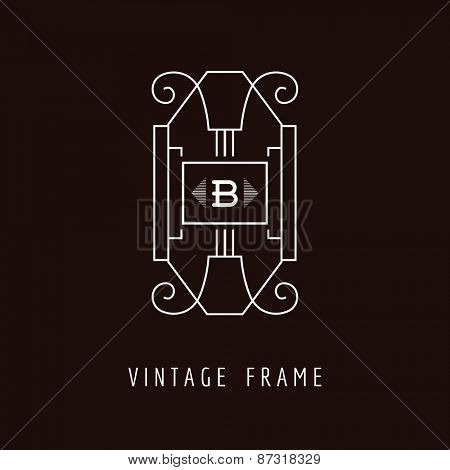 Art Deco Style Elegant Monogram - Design Template - in vector