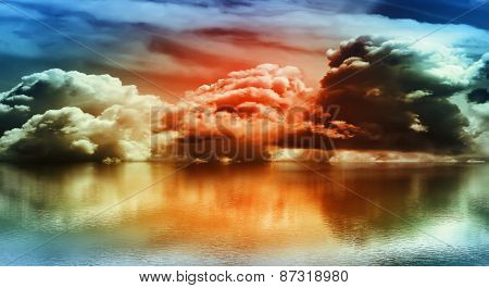 Vibrant colored clouds