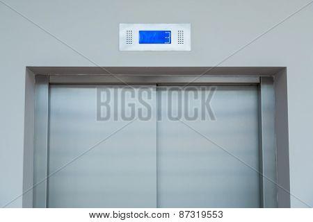 Doors of elevator.