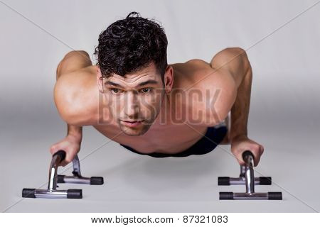 Man doing pushups