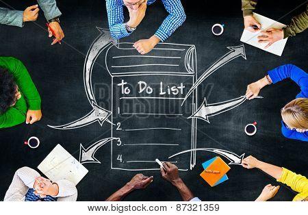To Do List Resolution Aspiration Organization Management Concept