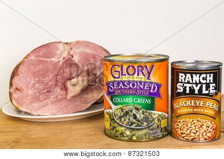 Baked Ham And Soul Food In Cans