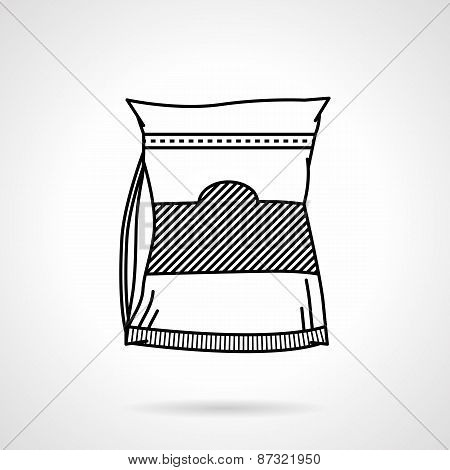 Sports nutrition black line vector icon