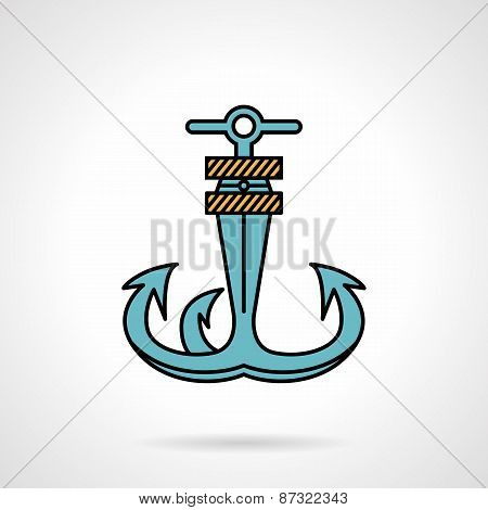 Anchor flat design vector icon