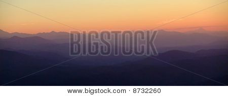 Panoramic And Aerial View Of Pyrenees Mountains