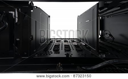 Black steel surface closeup
