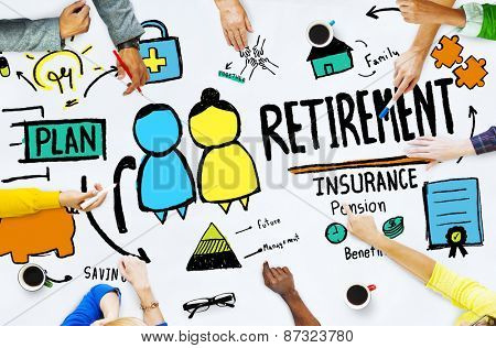 Diversity Casual People Employee Retirement Discussion Brainstorming Concept