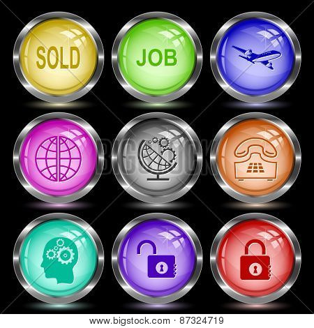 Business set. Internet button. Vector illustration.