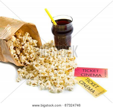 Pop Corn And Cinema Tickets