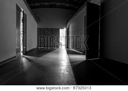 Modern corridor with light