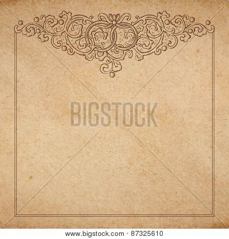 Paper Cardboard With Vintage Frame