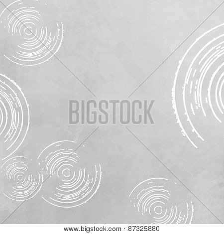 Abstract grey white background - circle pattern
