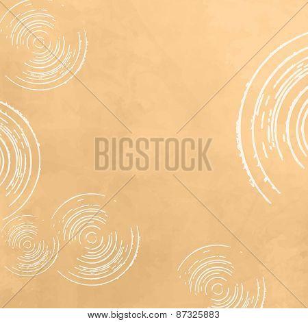 Circle background pattern yellow