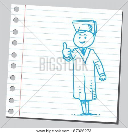 Graduate student with thumb up