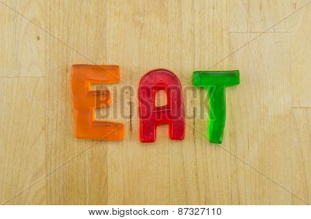 Gummy Words Eat