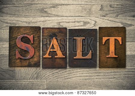 Salt Wooden Letterpress Theme