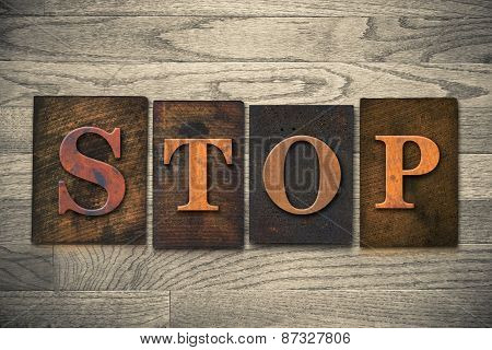 Stop Wooden Letterpress Theme