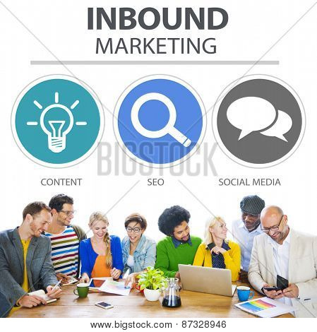 Inbound Marketing Commerce Content Social Media Concept