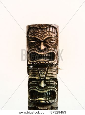 Hawaiian Wood Sculpted Totem