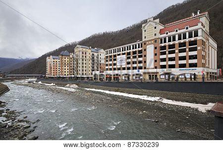 Architecture in Rosa Khutor Alpine Resort