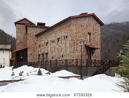 Historic architecture of Caucasus. Cultural and ethnographic center My Russia.
