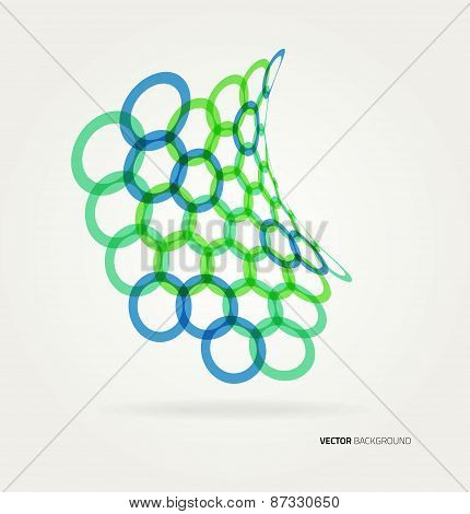 Abstract wave Vector circles template.