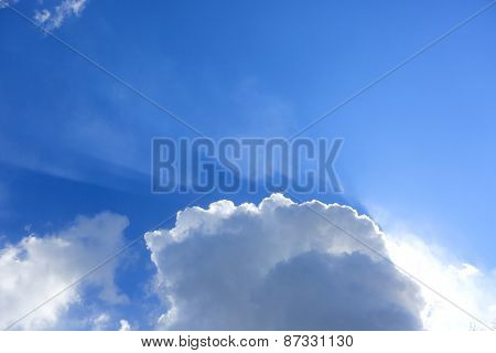 Nice clouds in blue sky