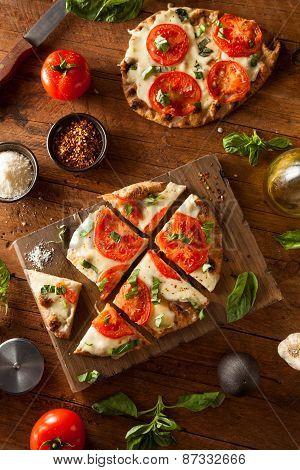Homemade Margarita Flatbread Pizza