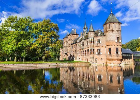 beautiful De haar castle, Holland
