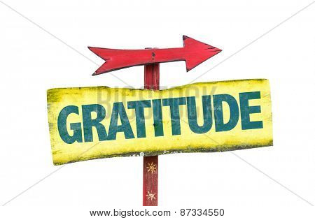 Gratitude sign isolated on white