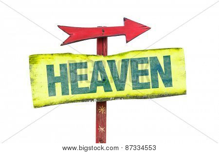 Heaven sign isolated on white